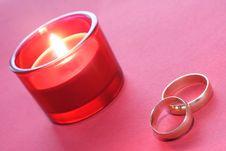Wedding Rings Decoration Royalty Free Stock Photos