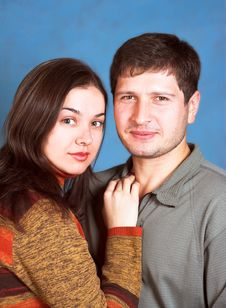 Young Family In Casual Wear Stock Image