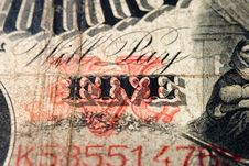 Free Will Pay Five Antique Note Royalty Free Stock Photography - 1748047