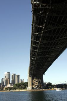 Under The Sydney Harbour Bridge Royalty Free Stock Image