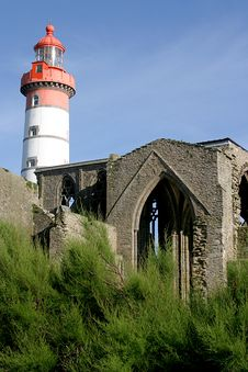 Free Lighthouse And Ruins Royalty Free Stock Images - 1749349