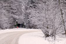 Free Snow Road Royalty Free Stock Image - 1749396