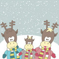 Free Christmas Card With Reindeer. Vector Illustration Royalty Free Stock Photos - 17403028