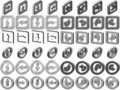 Free 3D Arrow Icons Collection Royalty Free Stock Photos - 17404768