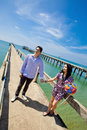 Free Bride And Groom On Fisherman Pier Royalty Free Stock Image - 17406926