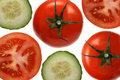 Free Tomatos And Cucumbers Royalty Free Stock Photography - 17408447