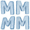 Free Icy Letter M. Royalty Free Stock Photography - 17409047