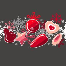 Free Seamless Christmas Pattern Royalty Free Stock Photo - 17400025