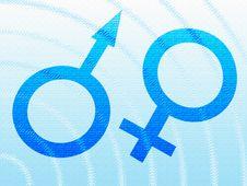 Machismo And Feminine Symbols Royalty Free Stock Images