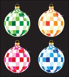 Free Christmas Tree Balls Set Royalty Free Stock Images - 17400379