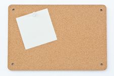 Free Notice Board With Post Notes Stock Image - 17400761