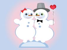 Free Snowmen,CMYK Stock Photography - 17401562