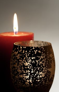 Free Few Burning Candle Royalty Free Stock Images - 17401609
