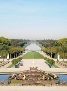Decorative Gardens At Versailles (Vertical) Stock Photography