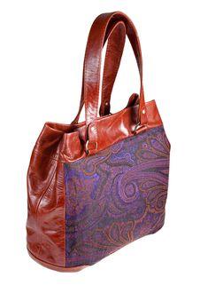 Free Leather And Paisley Handbag Stock Photography - 17401742
