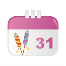Free New Year Calendar Icon Royalty Free Stock Photos - 17401748