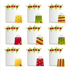 Free Christmas Bags Frames Royalty Free Stock Photos - 17401868