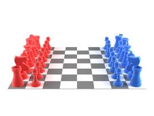 Free A Set Of Chess Pieces Stock Image - 17402001
