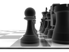 Free Close Up Shot Of A Set Of Black Chess Pieces Royalty Free Stock Images - 17402009