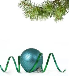 Free Christmas Ball And Christmas Tree Stock Photos - 17402153