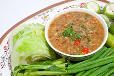 Free Thai Food. Curry Cooked Vegetables. Royalty Free Stock Image - 17402356