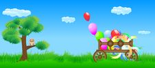 Free Meadow Cart And Owl Royalty Free Stock Images - 17402459