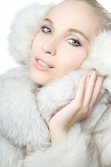 Free Portrait Of Girl Wearing White Fur Stock Photo - 17402510