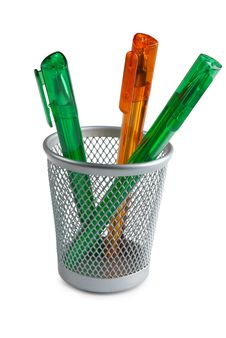 Free Three Pen In Basket Stock Photos - 17402923