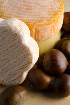 Free Cheese With Hazelnuts Stock Images - 17402944