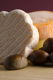 Free Cheese With Hazelnuts Stock Image - 17402951