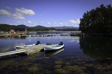 Free Beautifull Norway, Bay  With Boats And Pier Stock Photo - 17404340