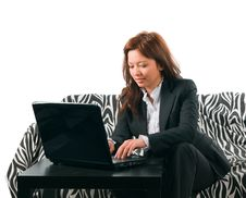 The Secretary Works Royalty Free Stock Image