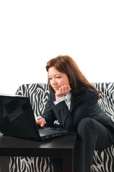 The Girl The Secretary Stock Photography