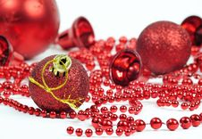 Free Symbolic Christmas Balls Decoration Stock Images - 17404924