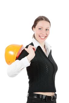 Free Business Woman Ordering Employees Stock Image - 17404931