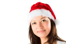 Free The Portrait Of The Woman Santa, It Smiles To You Royalty Free Stock Photo - 17405055