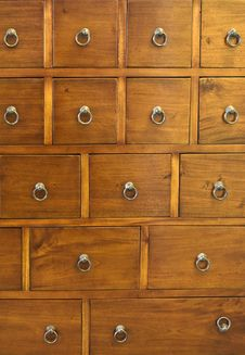 Free Chest Of Drawers Royalty Free Stock Photo - 17405155