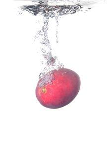 Free Mango Splash Stock Photo - 17405280