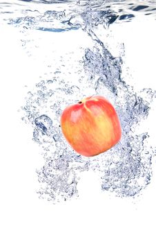 Free Apple Water Splash Royalty Free Stock Photography - 17405287
