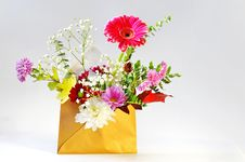 Free Envelope And Flowers Stock Photography - 17405802