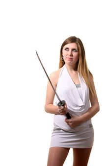 Free Woman With A Sword Stock Photo - 17406230