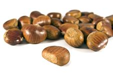 Free Chestnuts On White Background Royalty Free Stock Photography - 17406297