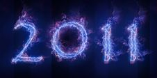 Free Bluish Fiery Text 2011 Royalty Free Stock Image - 17406306