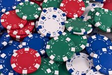 Free Poker Chips Stock Images - 17406334
