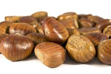 Free Chestnuts On White Background Royalty Free Stock Images - 17406349