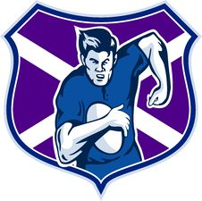 Free Rugby Player Scotland Flag Stock Images - 17406504
