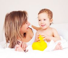Mother And Her Baby Stock Photography