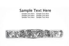 Free Thai Style Metallic Bookmark Royalty Free Stock Photography - 17406837