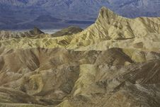 View From Zabriskie Point, Death Valley Stock Photography