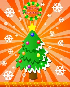 Free Card By Christmas Royalty Free Stock Photography - 17407087